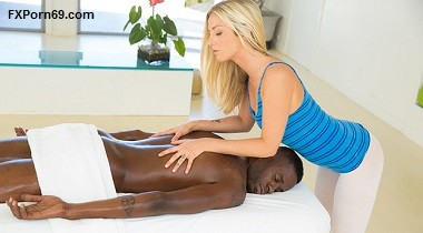 Blacked.com Interracial porn Beautiful blonde loves massaging BBC ! with Karla Kush & Jason Brown