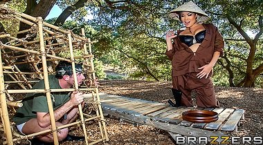 Brazzers - Big Tits In Uniform - Casualties of Whore with London Keyes & James Deen 380x210