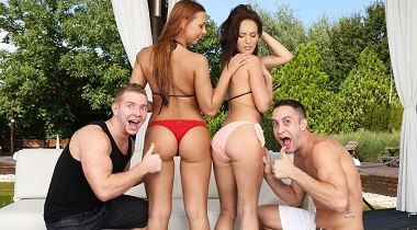Realitykings.com - Euro Sex Parties - Sapphic Shower Sluts with Chad Rockwell, Kai Taylor, Lana Belle & Ornella Morgan 380x210