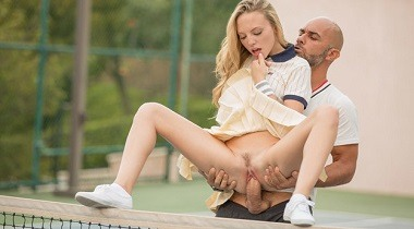 TUSHY - Tennis Student Gets Anal Lesson with Aubrey Star & Christian Clay 380x210