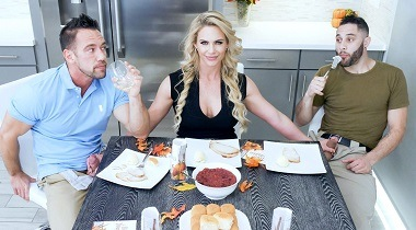 FamilyStrokes - Phoenix Marie on Army Boy Meets Busty Stepmom For Thanksgiving 380x210