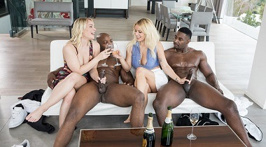 Blacked porn hd - Sorority Group Sex with Kylie Page, Hadley Viscara, Jax Slayher & Nat Turnher 380x210