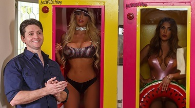 Brazzers - All Dolled Up Nicolette Shea, Vivian Azure & Preston Parker - Pornstars Like It Big 380x210