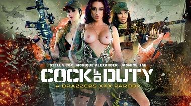 Brazzers hd - Cock Of Duty A XXX Parody with Jasmine Jae, Monique Alexander, Stella Cox & Danny D 380x210
