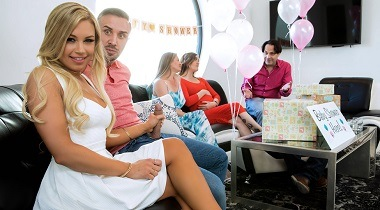 Brazzers.com - Busted At The Babyshower with Kendall Kayden & Keiran Lee - Real Wife Stories 380x210