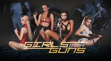 Digitalplayground - Girls with Guns with Alyssia Kent, Giselle Palmer, Kenzie Reeves & Tina Kay 380x210